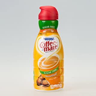 COFFEE MATE Sugar Free Hazelnut Liquid Coffee Creamer, 32 oz.