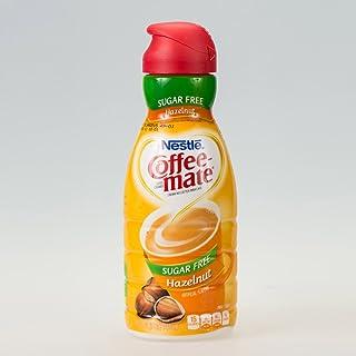 COFFEE MATE Sugar Free Hazelnut Liquid Coffee Creamer 32 fl. oz. Bottle Non-dairy, Lactose-Free Creamer