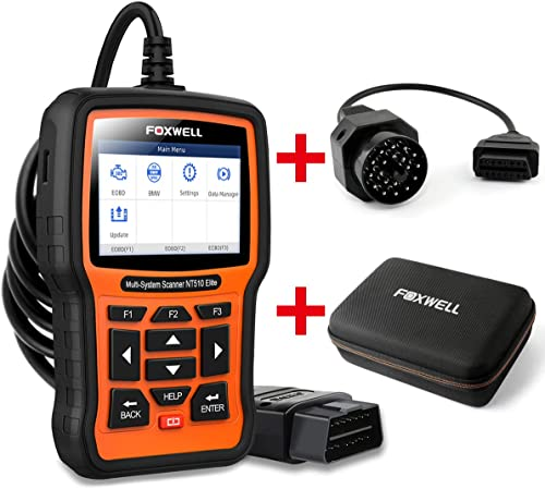 2021 FOXWELL Car Full-System Diagnostic Tool NT510elite for BMW online sale with EVA 2021 Case and 20Pin Adapter outlet online sale