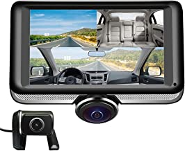LUU 360 Degree Dash Cam for Car,Dual Lens Full HD 1080P Front and 720P Rear View Camera,360 Panoramic Dash Camera,4.5 inch IPS Touch Screen, G-Sensor,WDR, Parking Monitor,Motion Detection
