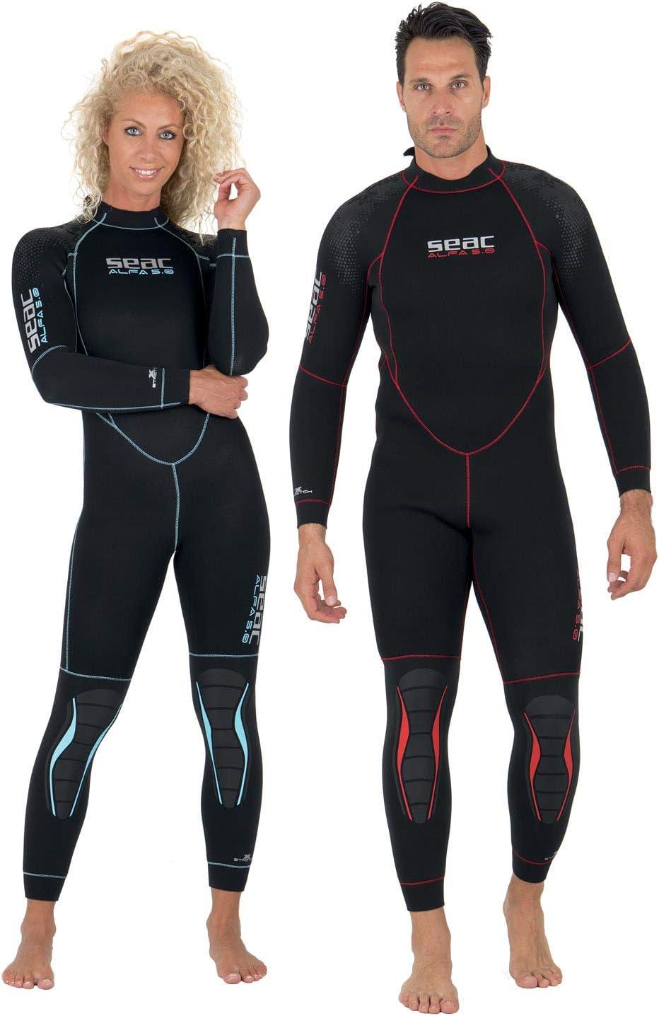 SEAC Mens Alfa 5.0 5 mm Suit for Scuba Diving