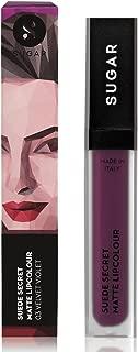 SUGAR Cosmetics Suede Secret Matte Lipcolour - 03 Velvet Violet (Dark Raspberry)