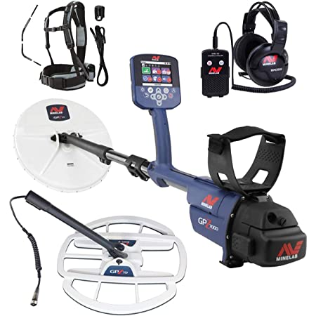 """Minelab GPZ 7000 All Terrain Gold Metal Detector with GPZ 19"""" Search Coil"""