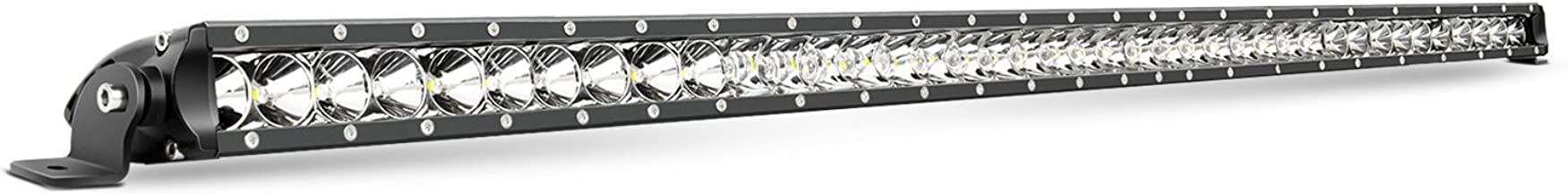 Nilight LED Light Bar 41inch 200W Spot Flood Combo Single Row 19000LM Off Road 3D Fog Driving Light Roof Bumper Light Bars for Jeep Ford Trucks Boat, 2 Years Warranty