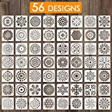 Outivity 56 Pcs Mandala Pochoirs pour...