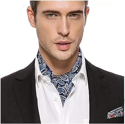 QXX Bufanda de Hombre Traje de Seda de Doble Cara Camisa ...