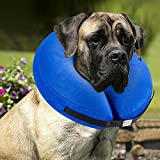 xl dog cone collar - BENCMATE Protective Inflatable Collar for Dogs and Cats - Soft Pet Recovery Collar Does Not Block Vision E-Collar(X-Large)