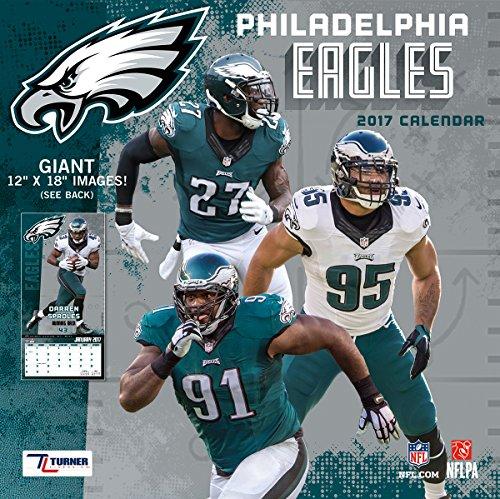 "Turner Licensing Sport 2017 Philadelphia Eagles Team Wall Calendar, 12""X12"" (17998011922)"