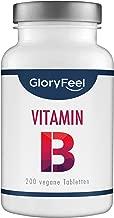GloryFeel® Vitamin B Komplex Hochdosiert - VERGLEICHSSIEGER 2019* - 200 Tabletten - Alle 8 B-Vitamine B1 B2 B3 B5 B6 B7 (Biotin) B9 (Folsäure) B12 - Laborgeprüfte Herstellung in Deutschland