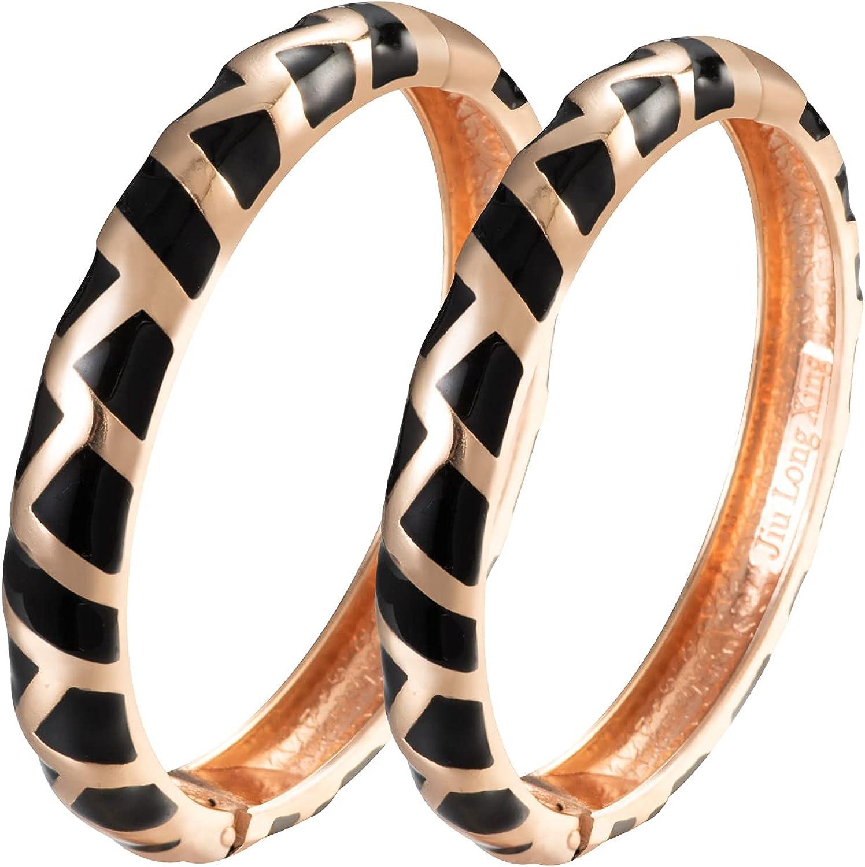 UJOY Geometric New item Cloisonne Jewelry Bracelet-Gold E Super beauty product restock quality top! Handmade Plated