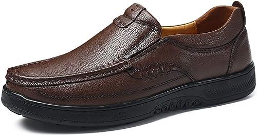 2018 Chaussures Oxford pour Hommes, Slip Haut décontracté Simple à Bout Rond et Chaussures Formelles Richelieus Homme (Couleur   Marron, Taille   40 EU)