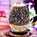 SOOTOP Quemador De Aceite 3D, Difusor De Aroma Táctil De Efecto Pirotécnico, Lámpara De...