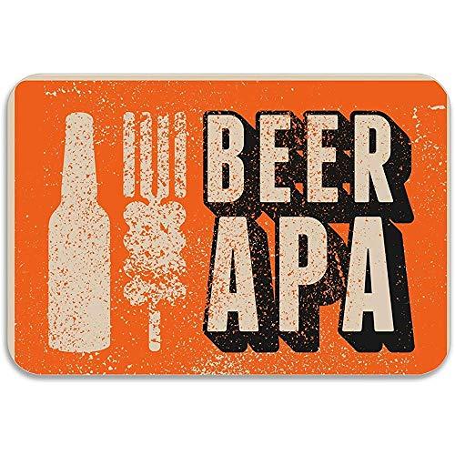 NA Bier APA Durable Türmatte Low-Profile Teppichmatten Fußmatte
