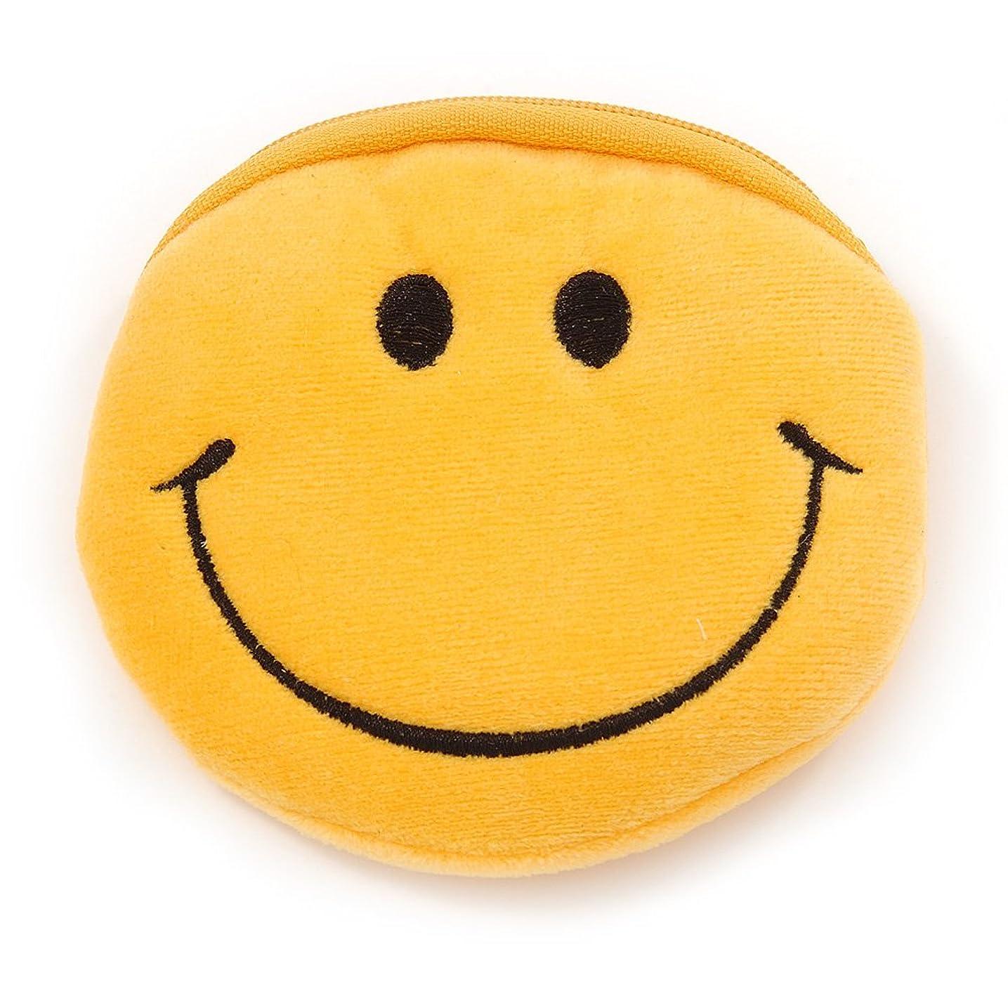 測定アブセイ遺体安置所Smiling Face明るいイエローファブリックCoin Purse /バッグチャームfor Kids?–?10.5?CM横幅