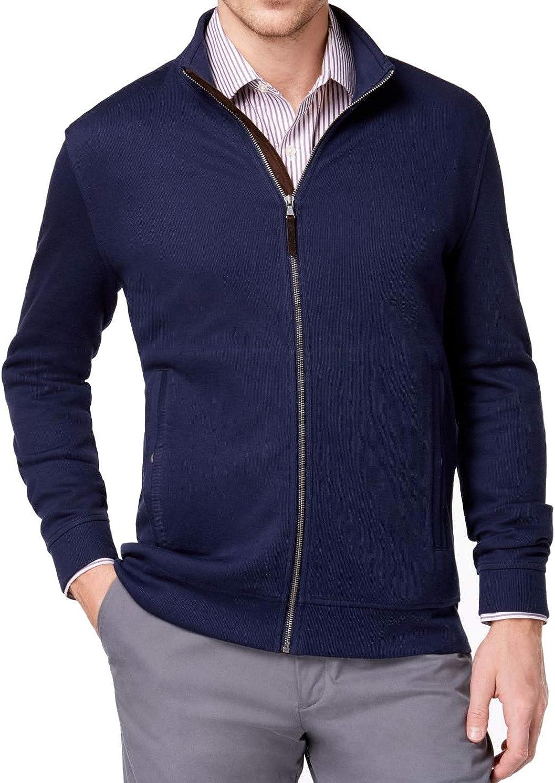 Tasso Elba Mens Cardigan Sweater, Blue, Large