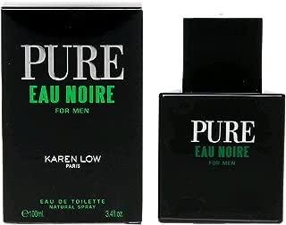 Pure Eau Noire FOR MEN by Karen Low - 3.4 oz EDT Spray