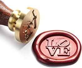 UNIQOOO Arts & Crafts Vintage LOVE Wax Seal Stamp, Great for Embellishment of Cards Envelopes, Wedding Invitations,Valentine's Day Engagement, Wine Packages, Gift Idea