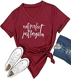 Womens Causal Short Sleeve V-Neck T-Shirt Graphic Tees