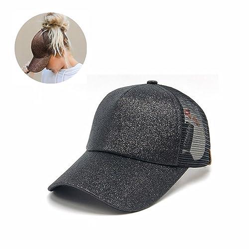 541554fa5 D Symphony Visor Cap, Summer Glither Ponytail Cap Mesh Hats Casual  Adjustable Sport Caps Baseball
