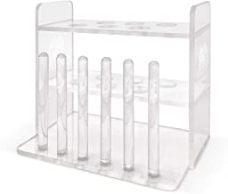 Aquarium Test Tube Holder, Hand-Made Rack, with 6 Holes and 6 Drying Poles, customised for use with Aquarium Test Tubes In...
