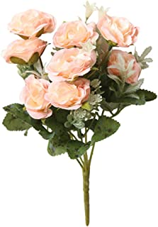 Wogo Artificial Flower Wild Rose Plant for Wedding Decor Table Centerpieces Party Home Decorations