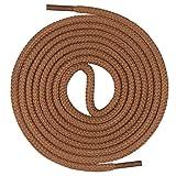 Mount Swiss runde Premium-Schnürsenkel aus 100% Baumwolle - sehr reißfest Farbe Hellbraun Länge 150cm