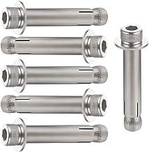 SENDILI Expansie Schroef - Expansie Schroef Ankerbouten Voor Buisbevestigingen, 304 Roestvrij Staal, Zilver, M10*80 6pcs