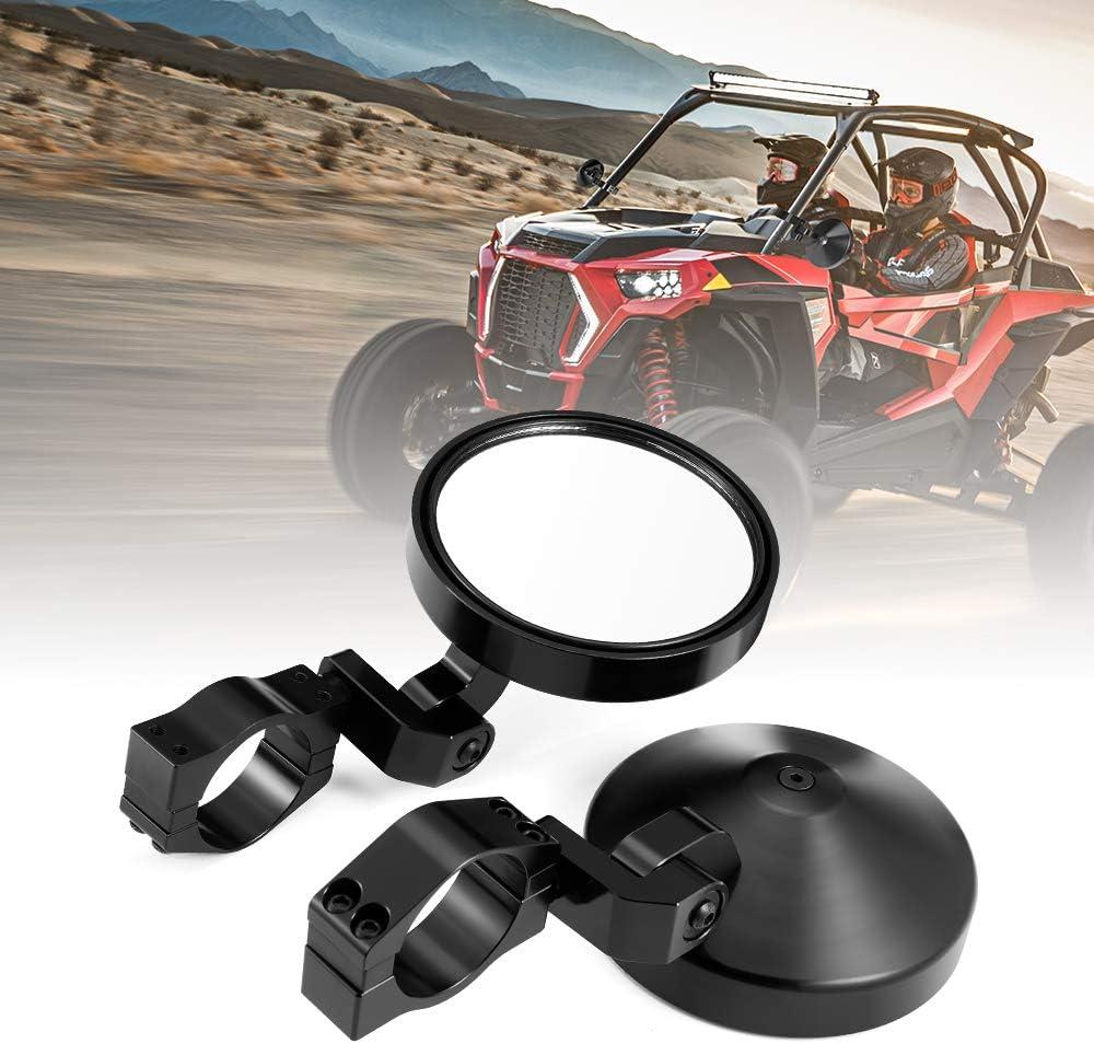UTV Side View Mirrors kemimoto Aluminum Duty Spring new Fashionable work Rear Heavy V Alloy