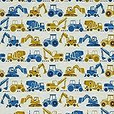 Hans-Textil-Shop Stoff Meterware Baustelle Fahrzeuge