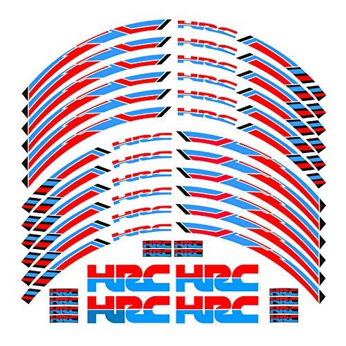 Qwjdsb para Honda Racing HRC CBR250RR CBR400RR CBR600RR CBR1000RR, calcomanías para Ruedas...