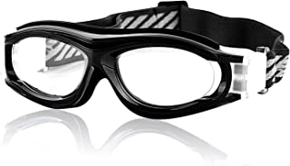 Multi Outools Kids Sports Glasses Anti-UV Shock-Proof Protective Glasses Safety Goggles w/Adjustable Strap for Basketball Football Hockey Rugby Baseball Soccer Volleyball and More Prescription