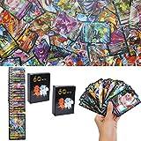 YNK 120PCS Cartes de Jeu, Ensemble de figurines Cartes GX, Vmax, V Cartes, Cartes à Collectionner, Jeu de Carte Amusant Jeu de Carte pour Enfant (5)