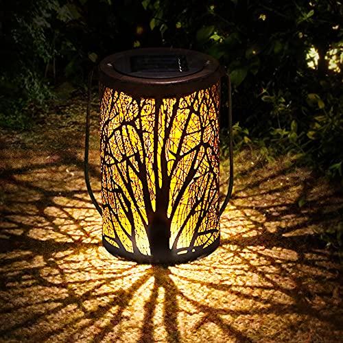 Solarlampen für Außen   infinitoo LED Solarlaterne Dekorative Solarlampe für Garten Wasserdicht Hängbare Solar Laterne Dekolampe im Freien für Terrasse, Weg, Hof, Rasen