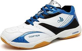 copter Men's Sneakers Indoor Cross Trainer Shoes Good for(Tennis/Badminton/Racquetball) (US-8.5, Blue)¡