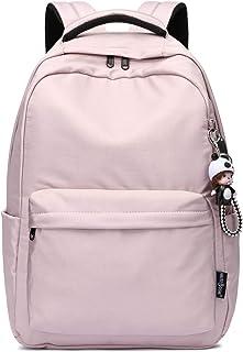 Silver Tulip Bolsos de Libros Escolares para niños Girls Canvas Backpack con Puerto USB (Rosado, Grande con USB)