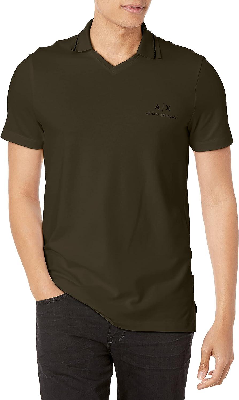 AX Armani Exchange Men's Chest Logo Stretch Cotton Piquet Polo Shirt