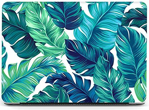 Funda para portátil Palm Leaf compatible con MacBook Air de 13 pulgadas con Retina Touch ID Release 2021 2020 2019 2018 A2337 M1 A2179 A1932, YXUAN Plastic Hard Shells Case - Hojas tropicales