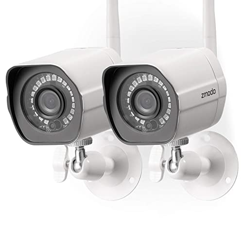 4fb26f7d31f120 Zmodo Wireless Security Camera System (2 Pack) , Smart Home HD Indoor  Outdoor WiFi
