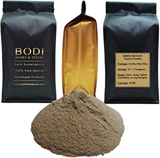 BODi : Dandelion Root - 100% Pure Organic Powder (4 8 16 32 oz) Super Cleanser (8 oz)