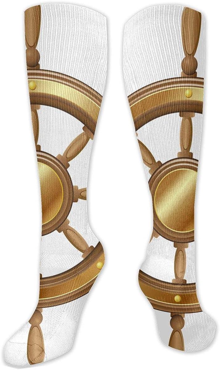 Wheel Transparent Clip Art Knee High Socks Leg Warmer Dresses Long Boot Stockings For Womens Cosplay Daily Wear