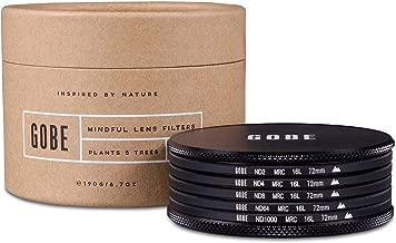 Gobe ND Filter Kit 72mm MRC 16-Layer: ND2, ND4, ND8, ND64, ND1000