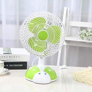 Desk Fan Shaking Head Small Electric Fan Plug Mini Fan Student Dormitory Bed Small Fan Office Desktop Mute (Design : Green...