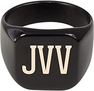 Molandra Products JVV - Adult Initials Stainless Steel Ring