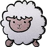 Parche bordado de oveja para planchar o coser en ropa, chaqueta, abrigo, vaqueros, sombrero.