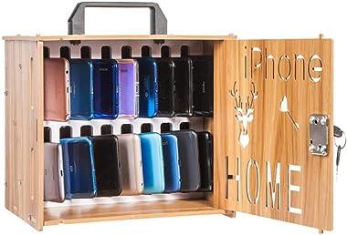 Storage Chests Mobile Phone Storage Box Lockable Storage Box Storage Box Student Dormitory Code Lock (Color : Brown)