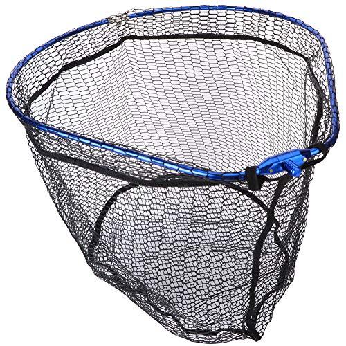 Dibiao Red de Malla de Pesca Flotante de Aleación de Aluminio Marco de Forma de Pera Portátil Plegable Aparejos de Pesca Duraderos Captura O Liberación Segura de Peces