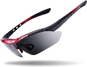 Gepolariseerde Sport Mannen Zonnebril Winddicht Frame Racefiets Mountainbike Rijden Goggles 5 Lenzen