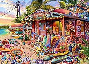 """HUADADA Puzzles for Adults 1000 Piece Family Puzzle Adult - Beach Shop Landscape Puzzle Game Adult 1000 Piece Jigsaw Puzzles Educational Games(27.6""""x 19.7"""")"""