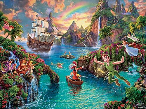 Ceaco Thomas Kinkade The Disney Collection Peter Pan Jigsaw Puzzle, 750 Pieces