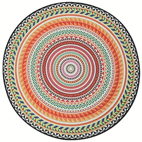 Elise Sala rond tapijt S for Estar, antislip, decoratie voor koffie, verdikking, slaapkamer, rond bij nacht, tapijt (maat: 120 cm diameter)